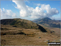 Walk Cribin Fawr in  The Cadair Idris Area  of Snowdonia National Park, Gwynedd, Wales