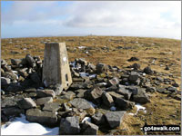 Walk Cross Fell walking UK Mountains in The North Pennines  Cumbria    England