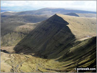 Cribyn from Pen y Fan - one of The Best 14 Walks in The Brecon Beacons