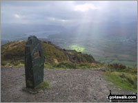 Walk Dodd (Skiddaw) in  The Northern Fells  of The Lake District National Park, Cumbria, England
