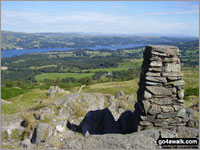 Walk route map c353 Holme Fell and Black Fell (Black Crag) from Tom Gill Tom Gill Car Park, Yew Tree Farm, Harry Guards Wood, Uskdale Gap, Holme Fell, Holme Hill Wood, Low Tilberthwaite, Hodge Close Quarry, High Tilberthwaite, Wythebank, High Oxenfell Farm, Low Arnside, Black Fell (Black Crag), Iron Keld, Tarn Hows, Tom Gill Waterfalls, Tom Gill Car Park The Southern Fells,  The Lake District National Park,  Cumbria,  England