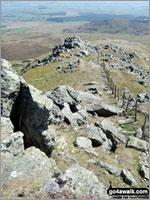 Walk route map gw138 Arenig Fawr from Pont Rhyd-y-Fen Pont Rhyd-y-fen, Pant-yr-Hedydd, Llyn Arenig Fawr, Y Castell, Bwlch Blaen-y-nant, Arenig Fawr, Crag y Hyrddod, Pont Rhyd-y-fen The Arenigs Area,  Snowdonia National Park,  Gwynedd,  Wales