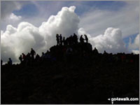 The summit of Scafell Pike, England's Highest Mountain