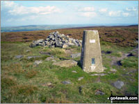 Walk Rombalds Moor (Ilkley Moor) walking UK Mountains in The South Pennines and The Forest of Bowland  West Yorkshire    England