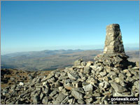 The summit of Aran Fawddwy  the highest point in The Arans Photo: Tony Statham
