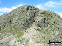 Walk Crinkle Crags (South Top) walking UK Mountains in The Southern Fells The Lake District National Park Cumbria    England