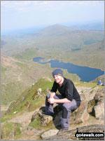 Walk route map gw100 Mount Snowdon (Yr Wyddfa) from Pen y Pass Pen y Pass, Pyg Track, Bwlch y Moch, Craig Fach, Miners' Track, Snowdon Mountain Railway, Snowdon (Yr Wyddfa), Miners' Track, Pyg Track, Bwlch y Moch, Pen y Pass The Snowdon Area,  Snowdonia National Park,  Gwynedd,  Wales