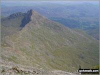 Walk route map gw117 Snowdon and Yr Aran via The Watkin Path from Nantgwynant Nantgwynant, Bethania, Castell, Gladstone Rock, The Watkin Path, Bwlch Ciliau, Bwlch y Saethau, The Scree Path, Snowdon (Yr Wyddfa), Rydd Ddu Path, Clogwyn Du, Allt Maenderyn, Yr Aran, Clogwyn Birth, Nantgwynant The Snowdon Area,  Snowdonia National Park,  Gwynedd,  Wales