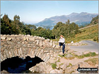 Walk route map c201 Ashness Bridge and Walla Crag from Keswick Keswick, Friar's Crag, Calfclose Bay, Barrow Bay, Ashness Bridge, Walla Crag, Rakefoot, Castlerigg, Brockle Beck, Spring Farm, Keswick  The Lake District National Park,  Cumbria,  England