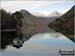 Looking NE up Wast Water to featuring Yewbarrow (left), Kirk Fell and Great Gable (right) from near Lund Bridge