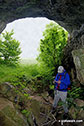 Inside another cave above Thor's Cave The White Peak Area The Peak District National Park Staffordshire England