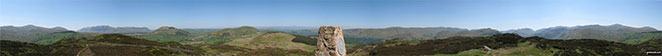 360 degree panorama taken from the top of Gowbarrow Fell (Airy Crag)