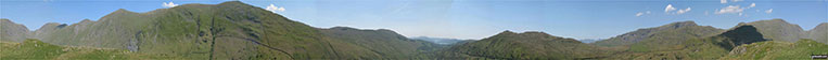 360 degree panorama taken from the top of Troutbeck Tongue