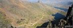 The PYG Track and The Miners' Track, Craig Fach, Llyn Llydaw (top) and Glaslyn (bottom) from Snowdon (Yr Wyddfa)