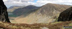Grasmoor, Robinson and Fleetwith Pike and Buttermere from Hay Stacks (Haystacks)