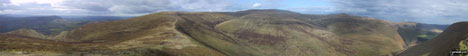 *270° Panorama featuring Pengenfford, Pen Trumau, Waun Fach, Pen y Gadair Fawr, Pen Twyn Mawr, Crug Mawr and the The Grwyne Fechan valley from Mynydd Llysiau