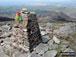 Rhinog Fawr summit with Carreg-y-Saeth and Gloyw Lyn below