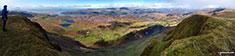 Barmouth and the Mawddach Estuary from the summit of Tyrrau Mawr (Craig-las)