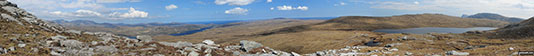 Panorama from the upper slopes of Carn a' Ghallaich, Ben Hope