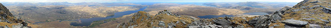 Panorama from the top of Ben Hope