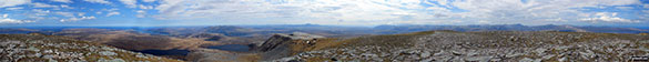 Panorama from the summit of Ben Hope