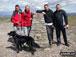 Myself, Paul Baldry, Max the Dog, Jenny Baldry, Tom Evans and Martin Brown on top of Ingleborough.