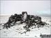 Wild Boar Fell summit in the snow