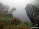 Llyn Du in mist on Moel Ysgyfarnogod