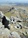 The path down the Arenig Fawr ridge summit