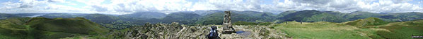 *360° Panoroma from the summit of Loughrigg Fell