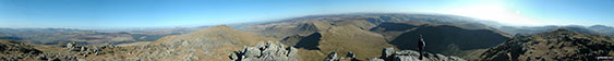 360 degree panorama from the summit of Aran Fawddwy